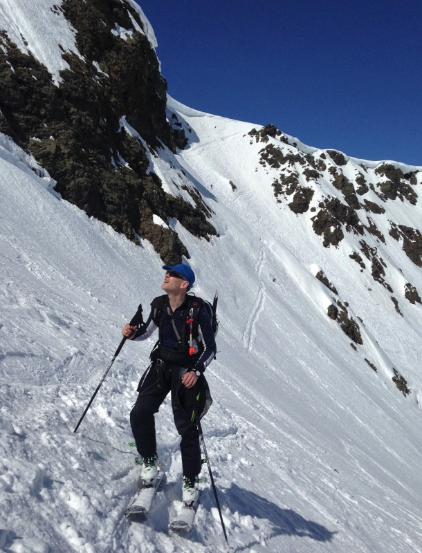 Skinning above the Chalet (2)