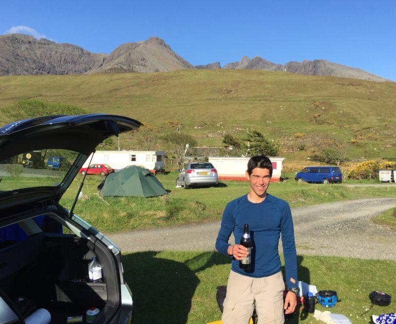 Beer in campsite