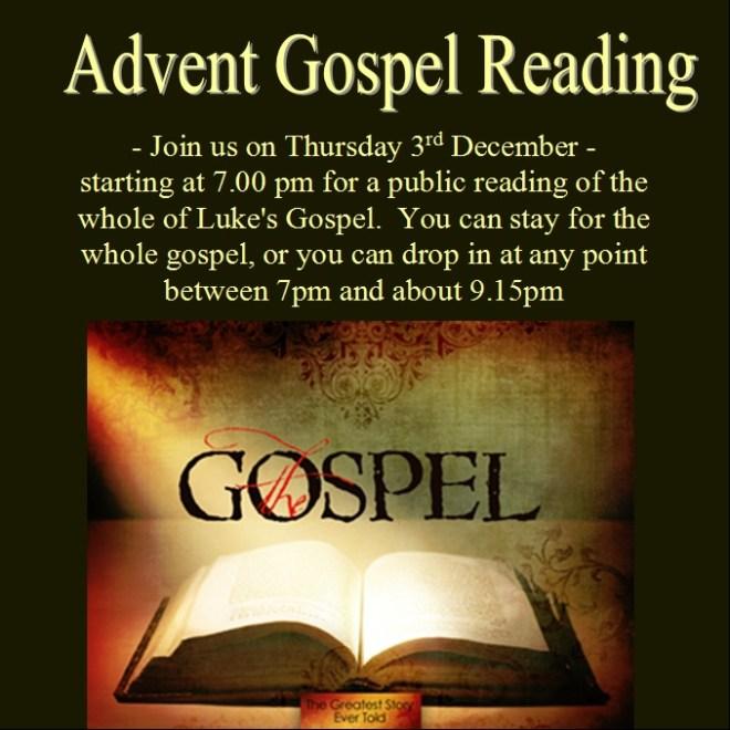 Gospel reading Dec 2015
