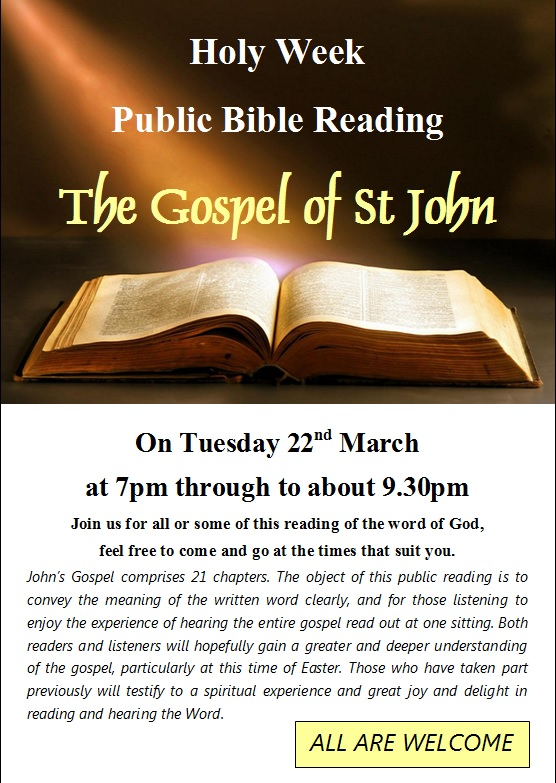 Bible Reading Easter 2016