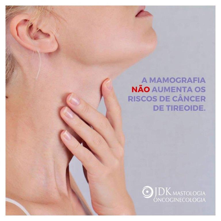 A mamografia NÃO aumenta os riscos de câncer de tireoide