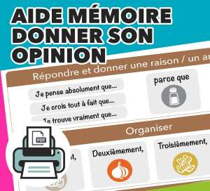 Aide mémoire donner son opinion