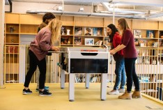 people playing fussball