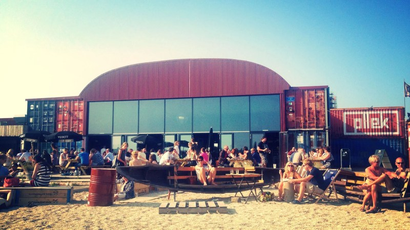 The Beach at Pllek in Amsterdam | 10 Ridiculously Fun Things To Do With Your Friends In Amsterdam | Clink Hostels