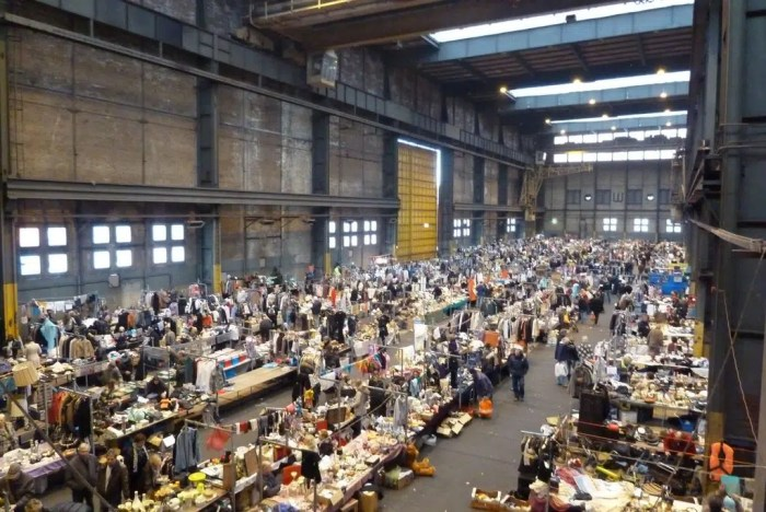 IJ Hallen Europe's Biggest Flea Market Rainy Day Amsterdam