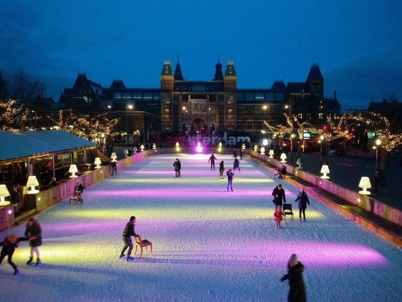 Ice Skating In Amsterdam | Winter in Amsterdam | Clink Hostels