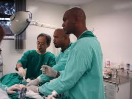 Dr. Alfred Dawes and his team