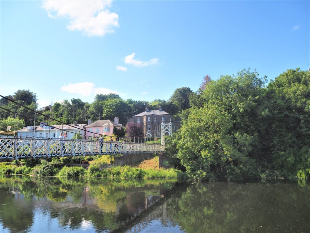 Fitzgerald Park à Cork Irlande.-Le point deau et la riviere lee clioadnco