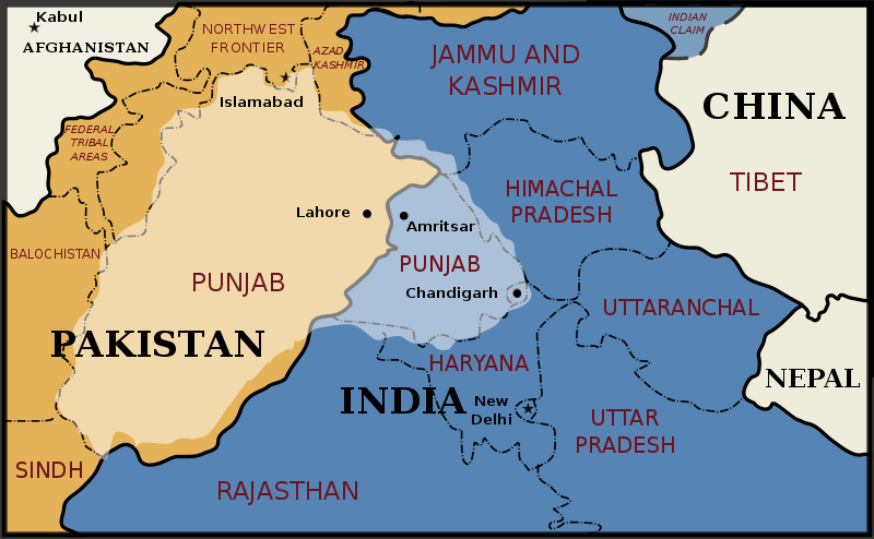 Image result for punjab partition map
