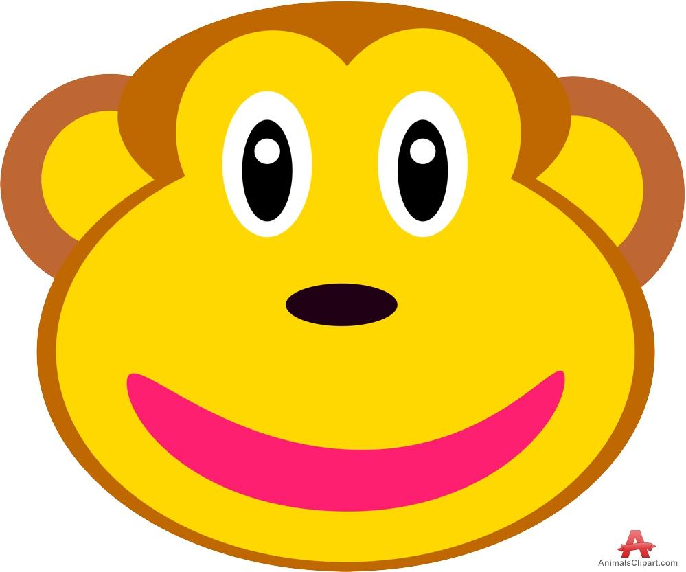 Happy Monkey Face - ClipArt Best (999 x 833 Pixel)