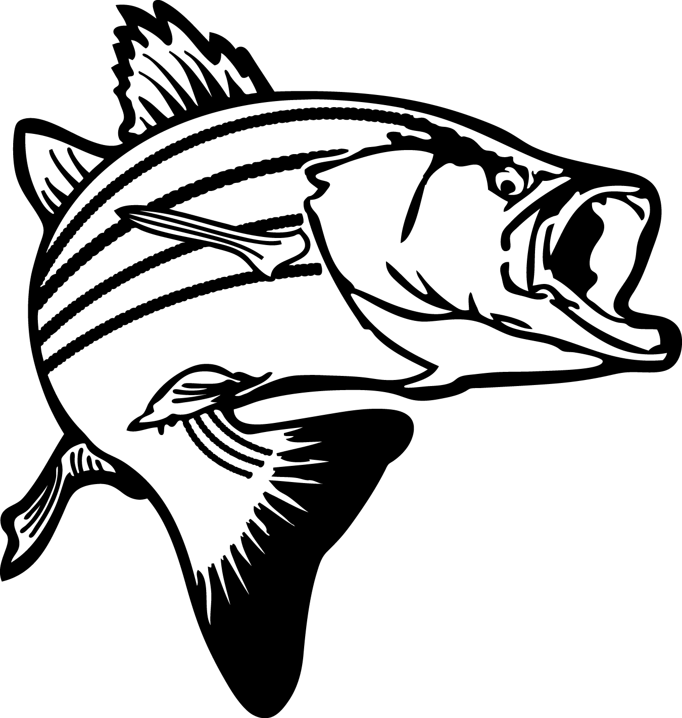 fish silhouettes colouring pages