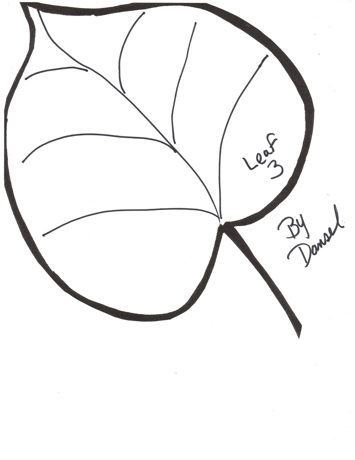 Leaf Drawing Template