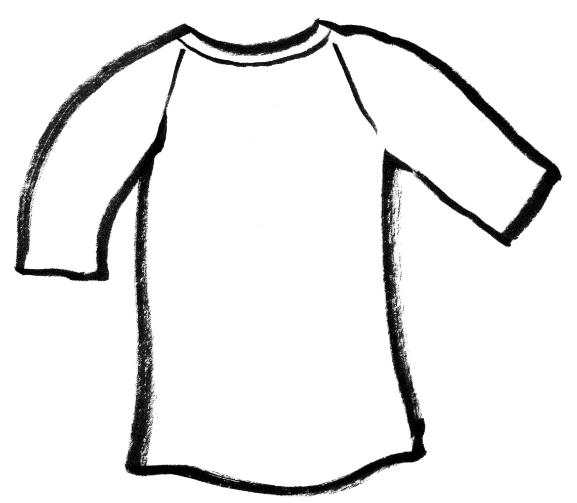 Blank T Shirt Template For Colouring