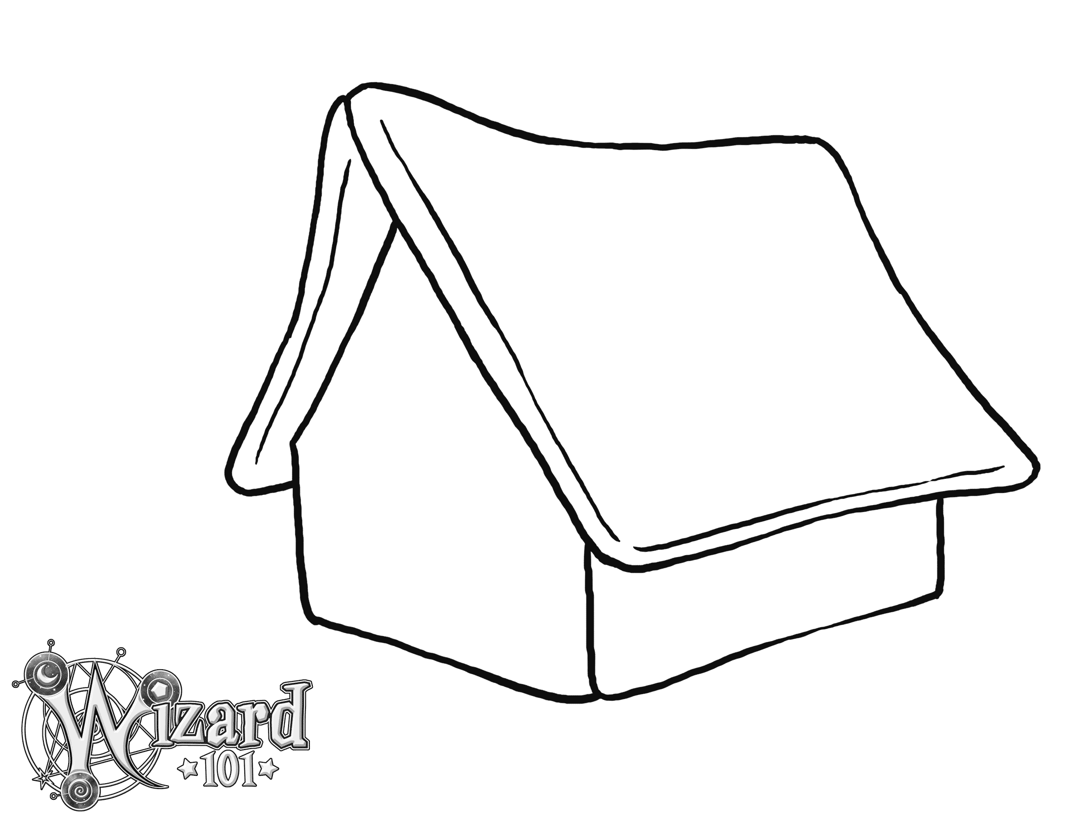Blank Printable Gingerbread House