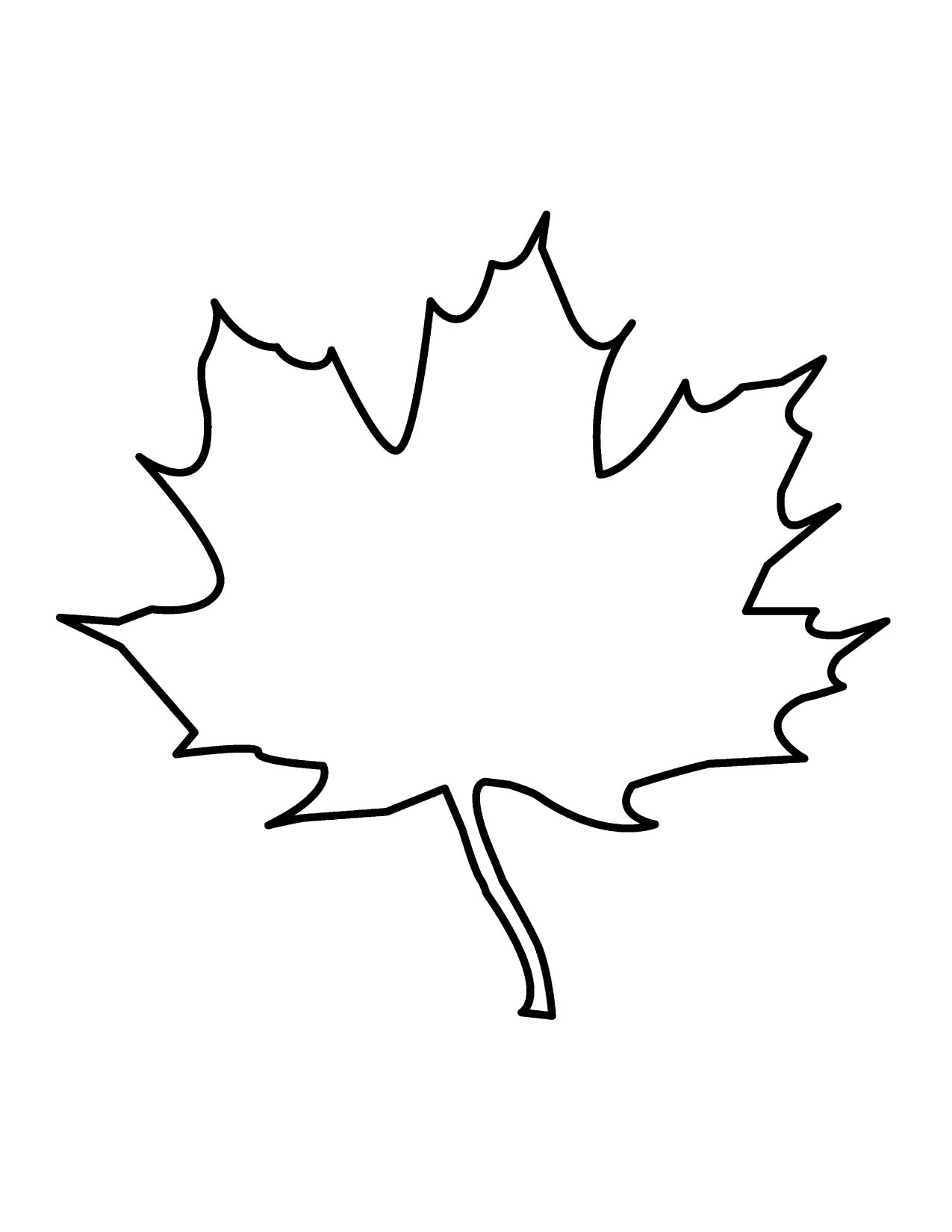 Leaf Outline Clip Art Black And White