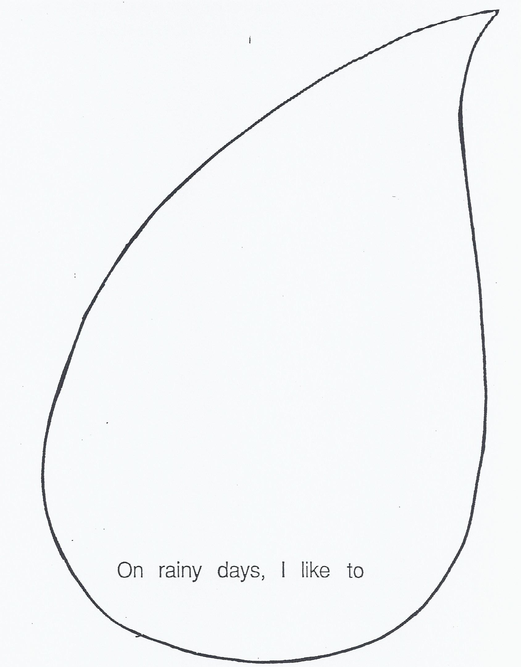 Printable Raindrop Pattern