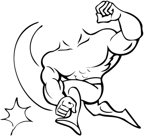 muscle man coloring pages two arm muscle coloring coloring pages
