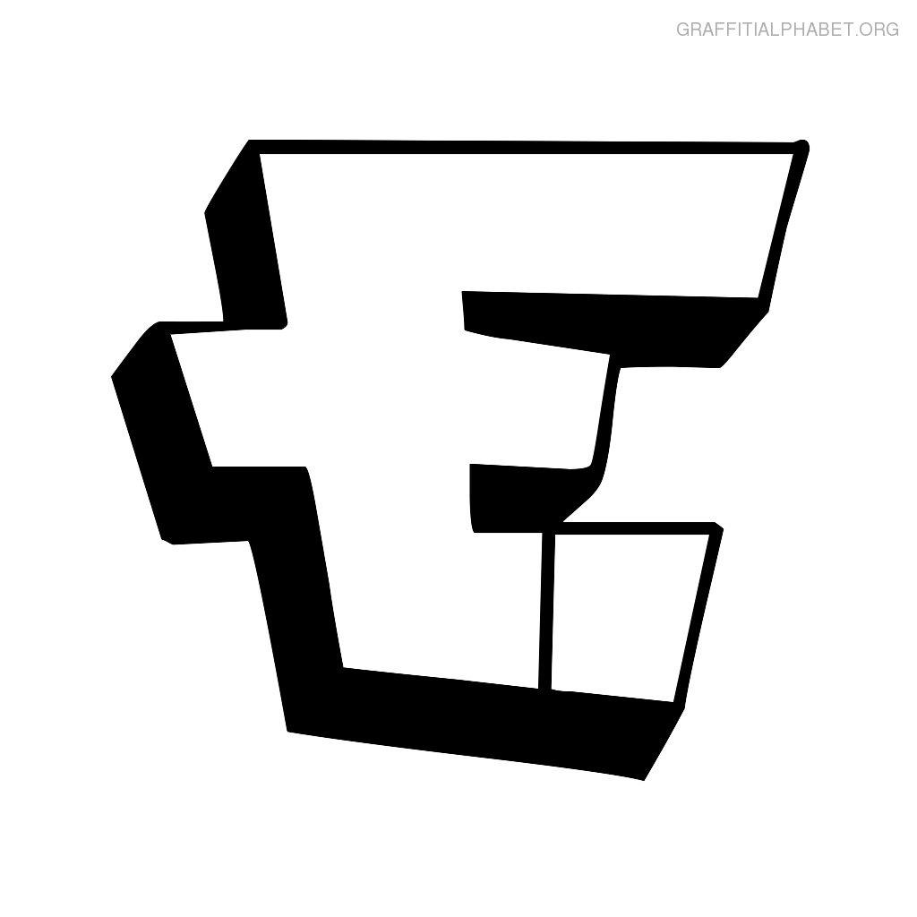 Bubble Letters E
