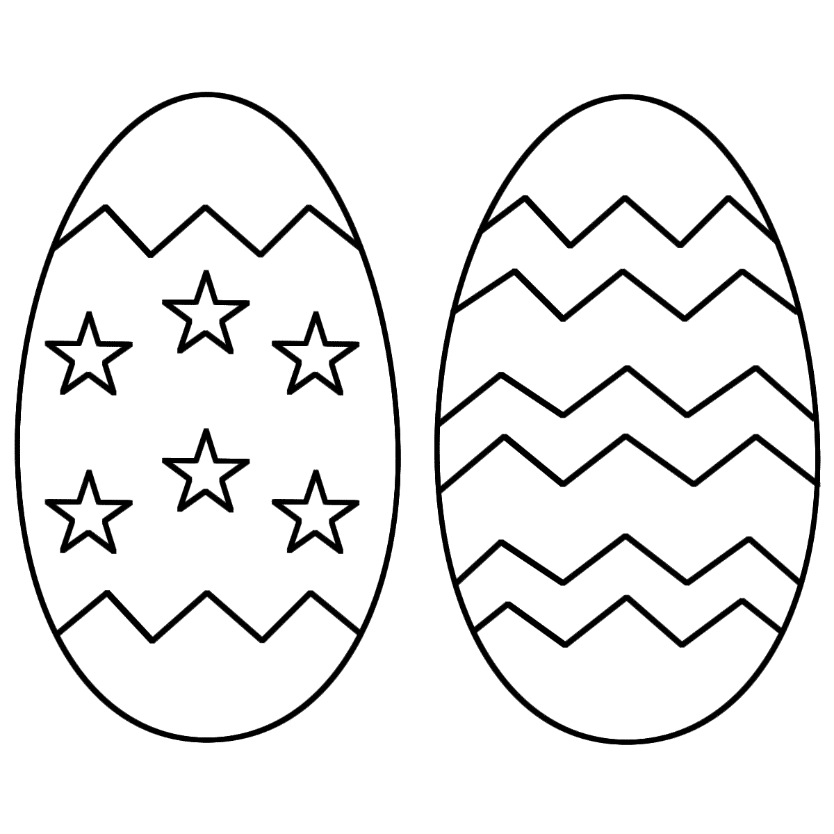 Easter Egg Basket Outline