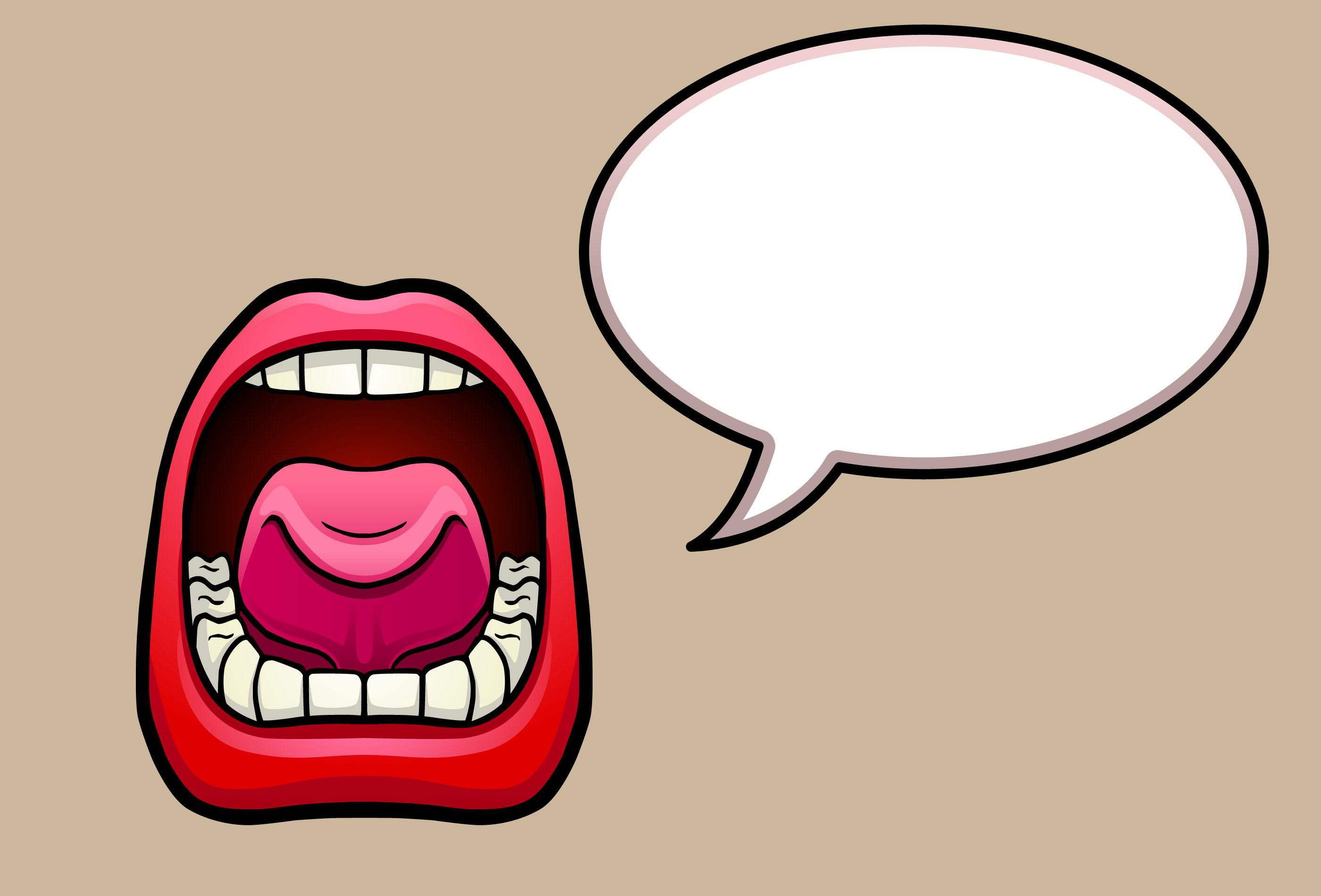 Image result for pictures of mouths speaking
