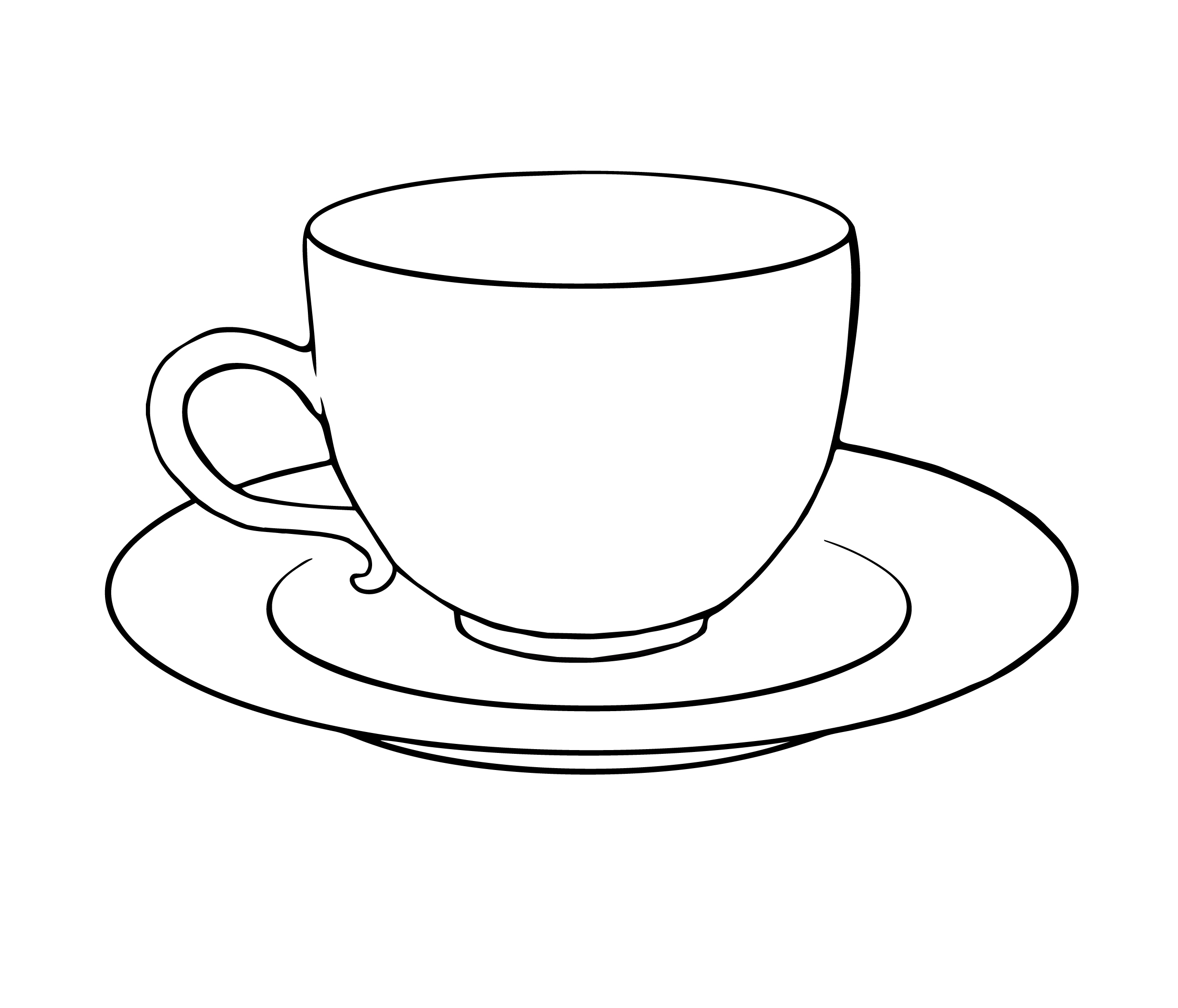 tea cup colouring page clipart best