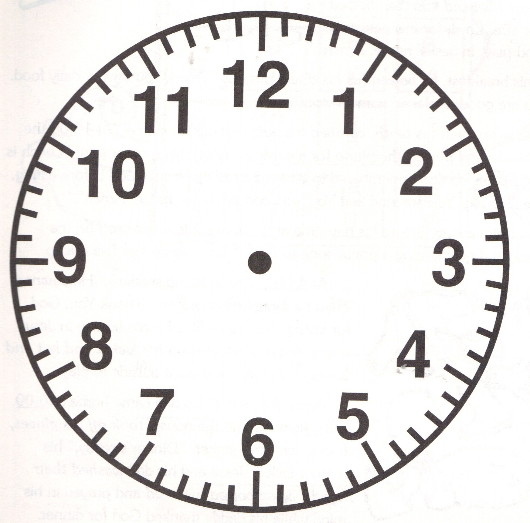 Clock Numbers Template