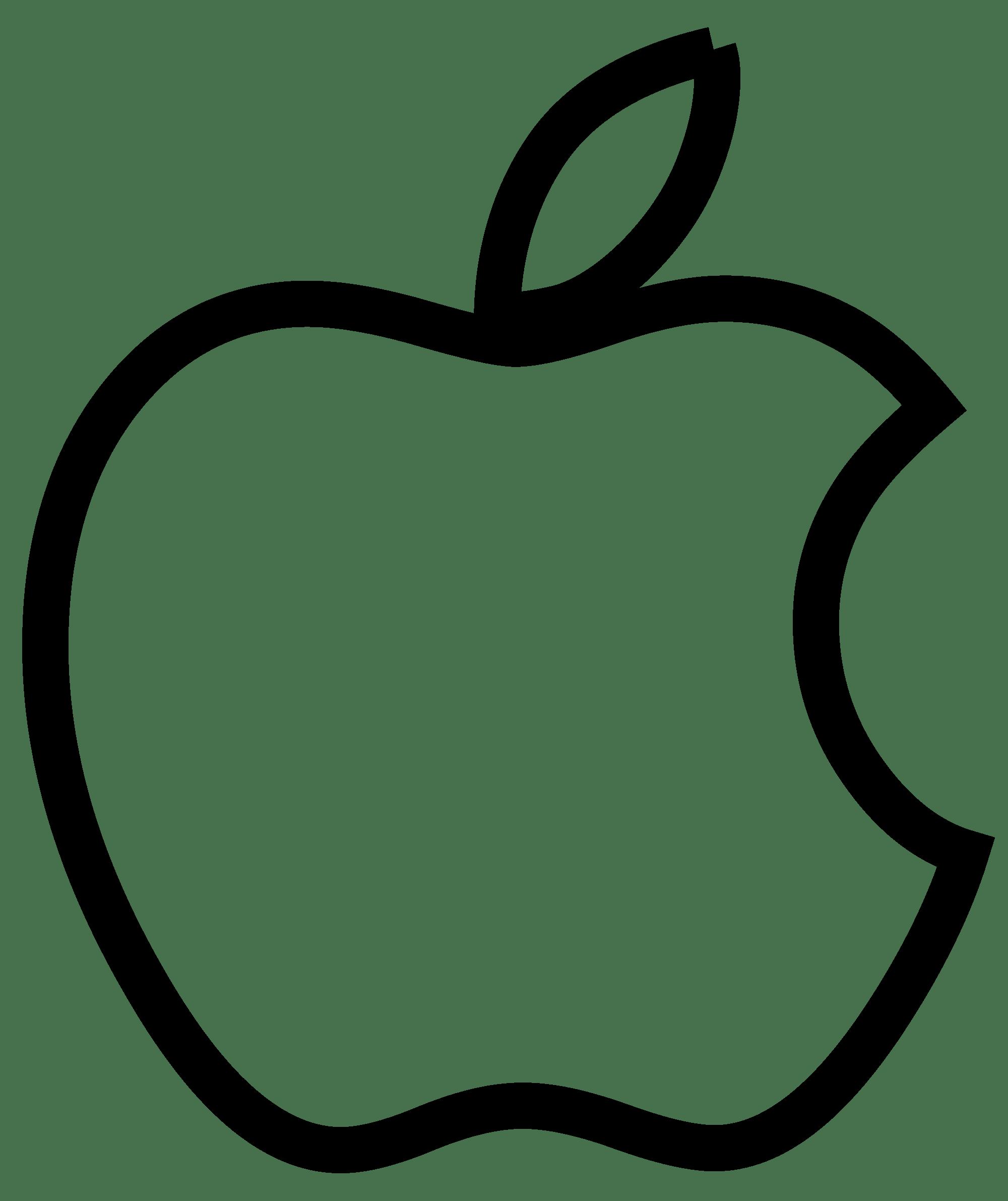 Black Apple Logo Transparent Background