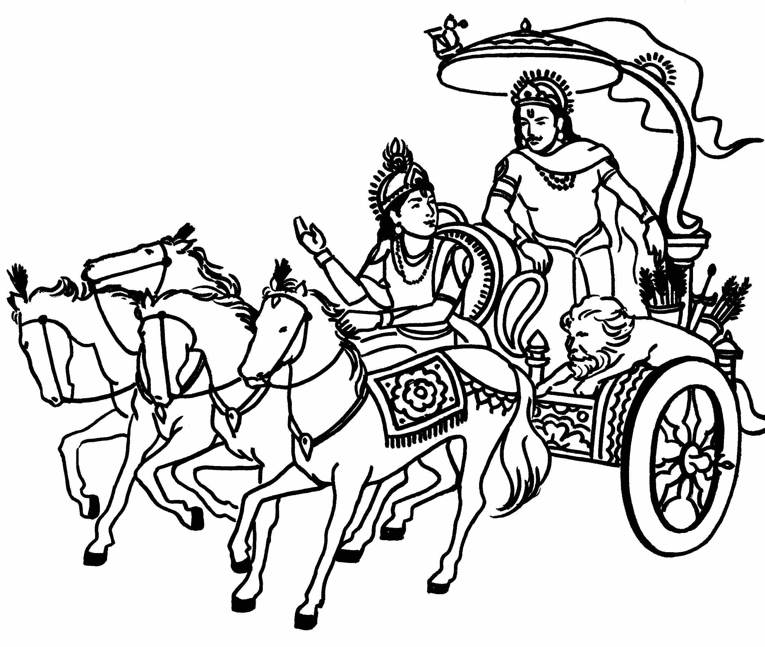 Saraswati Mata Logo Black And White