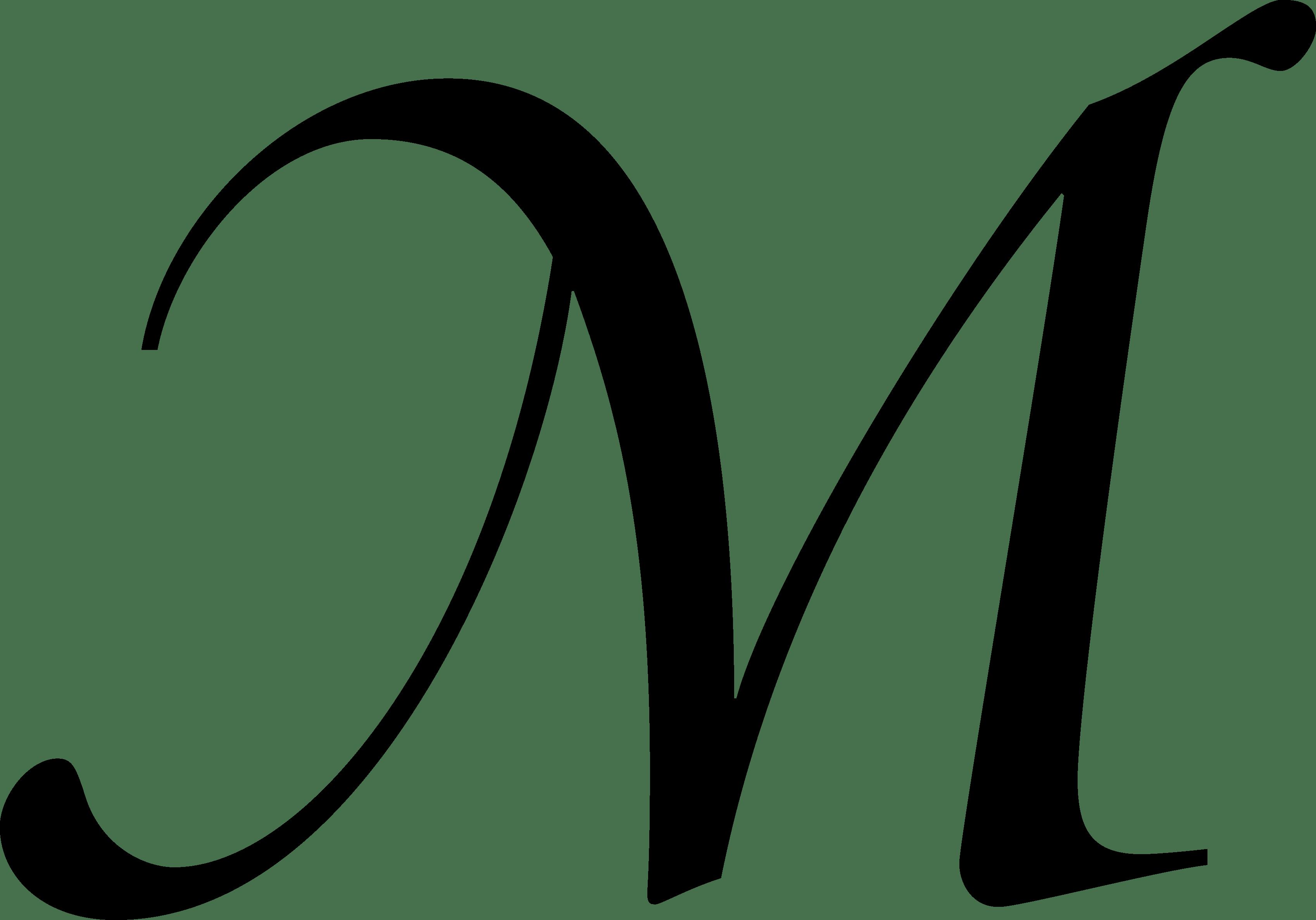 Fancy M Letter Outline