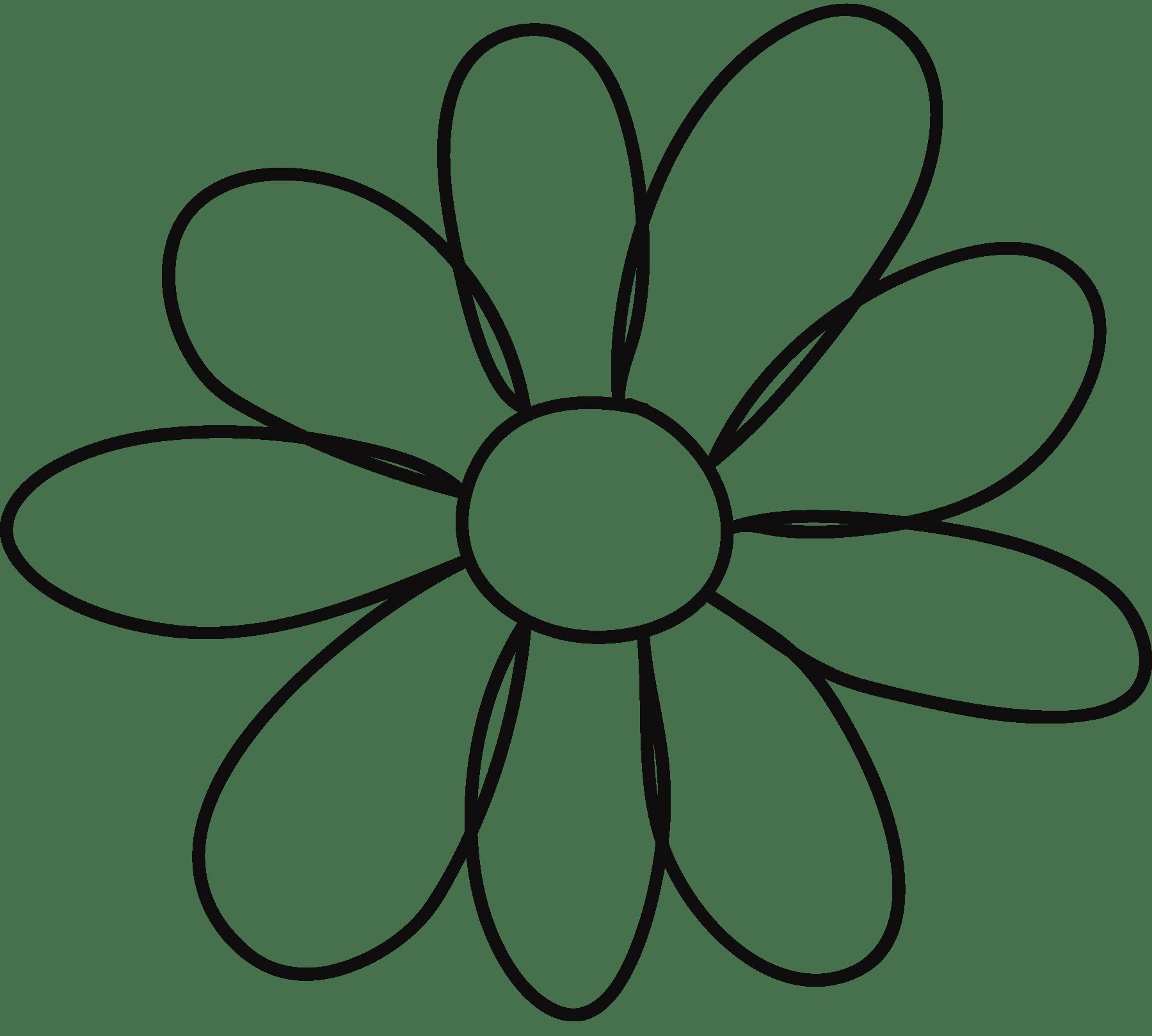Flower Clip Art Free Stencil