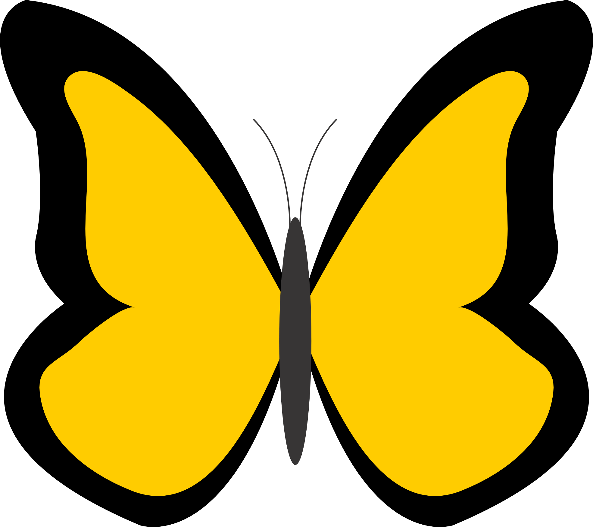 butterfly color clipart clipart best