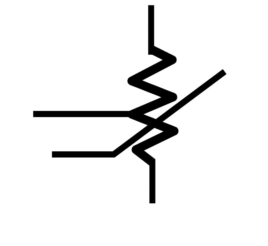 Resistor Symbol With White Back Ground
