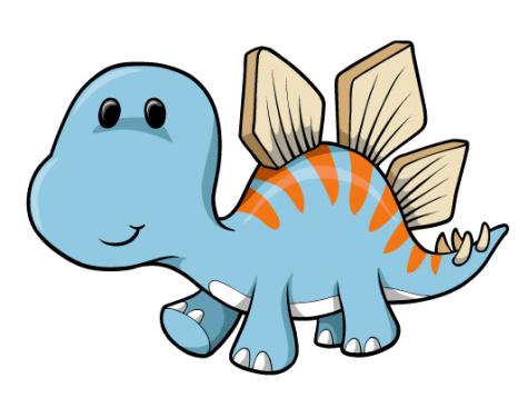 Cartoon Baby Blue Dinosaur : Custom Wall Decals, Wall ... (475 x 376 Pixel)