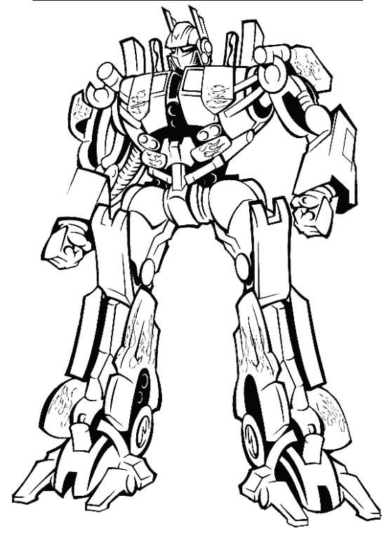 bumblebee robot colouring pages