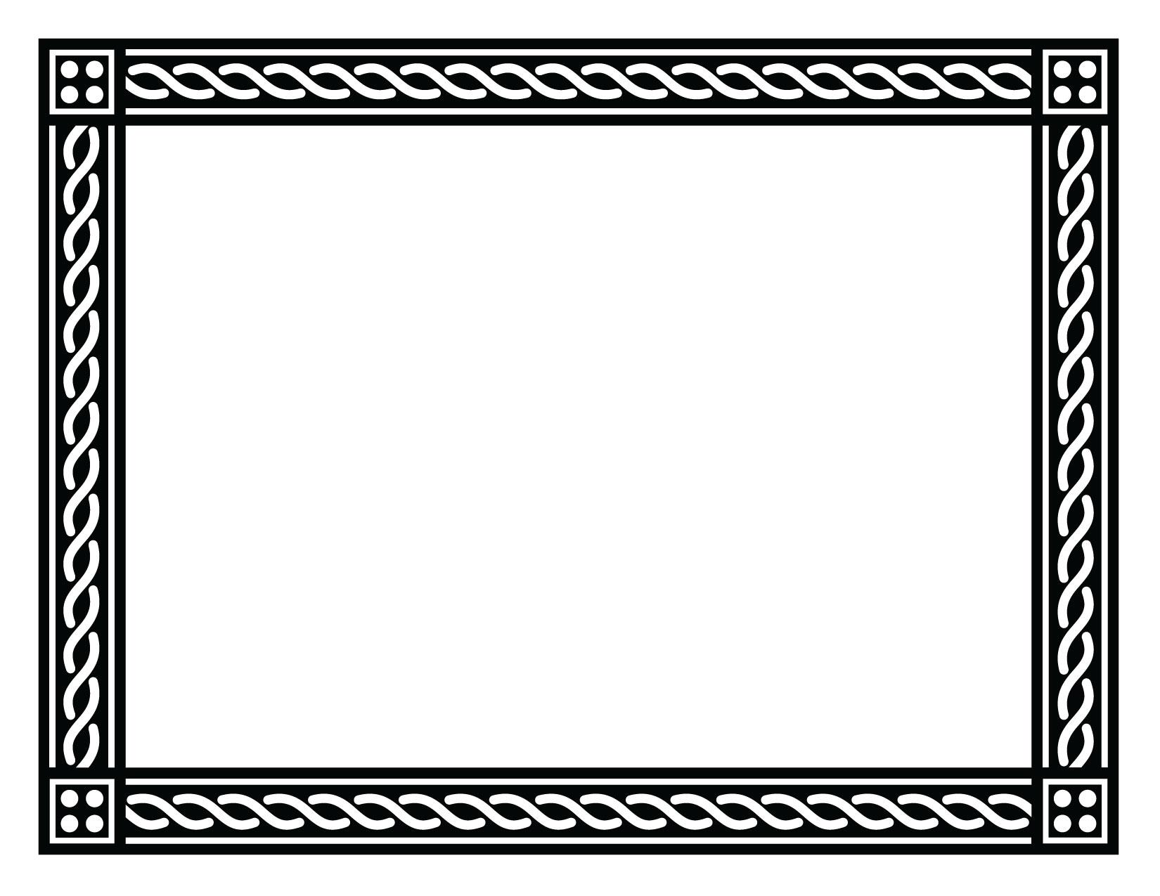 Free Blank Certificate Borders