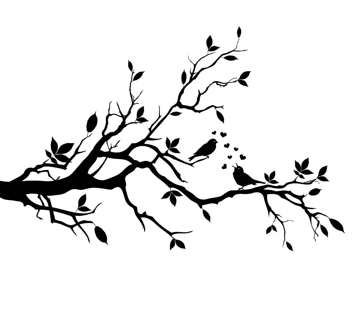 Flying Love Birds Drawing