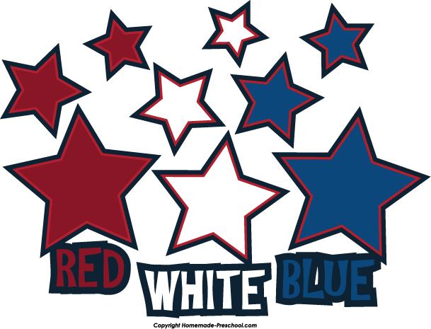 Patriotic Stars Clip Art - ClipArt Best (609 x 465 Pixel)