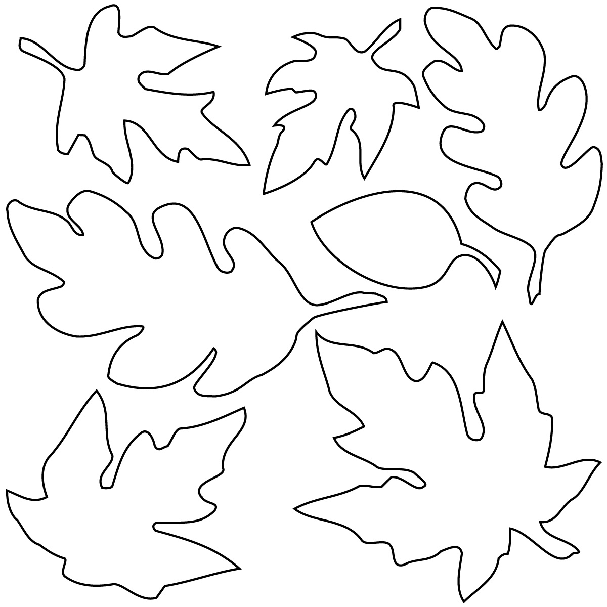 Oak Leaf Outline Printable