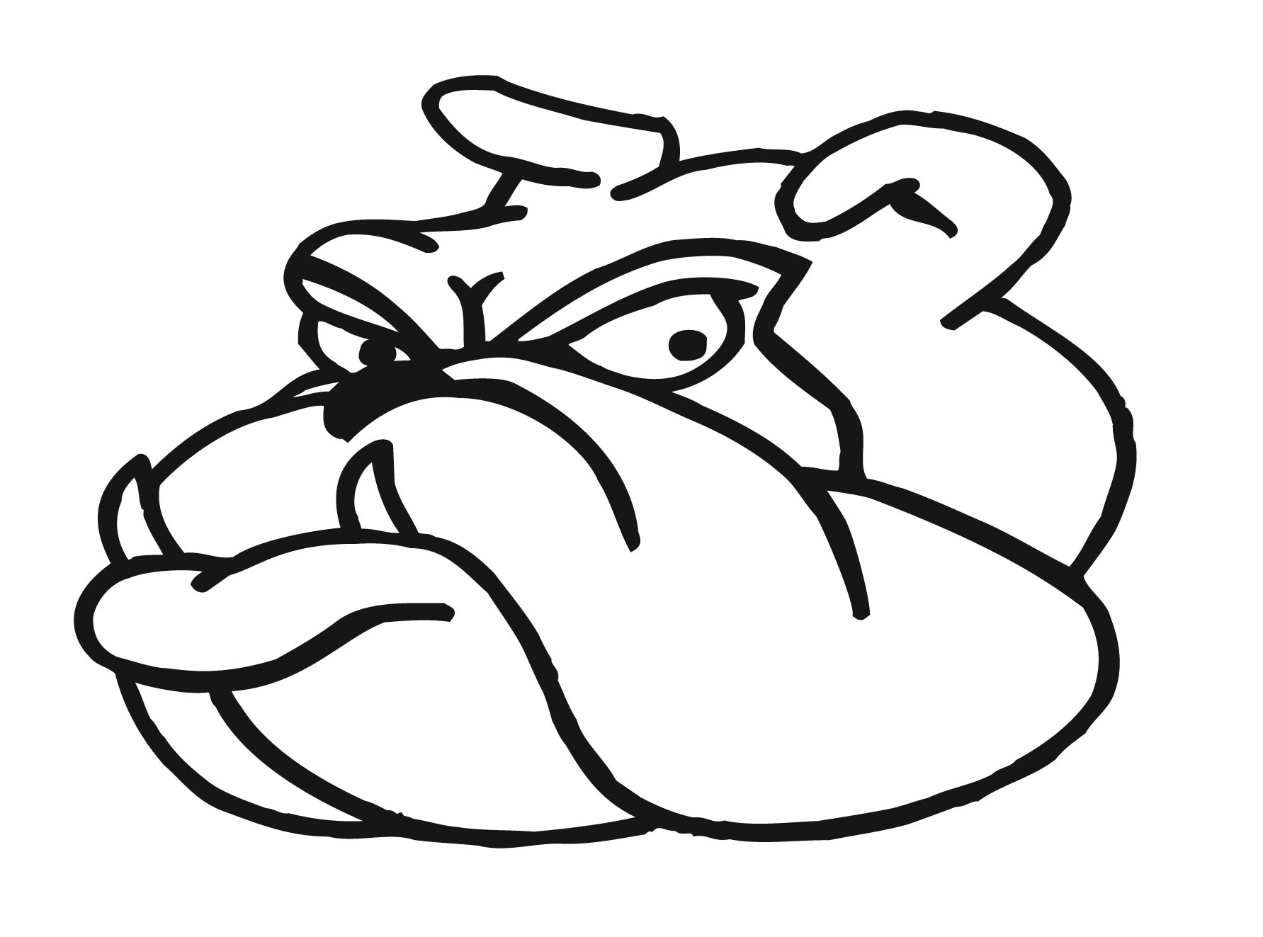 Cartoon Bulldog Puppy