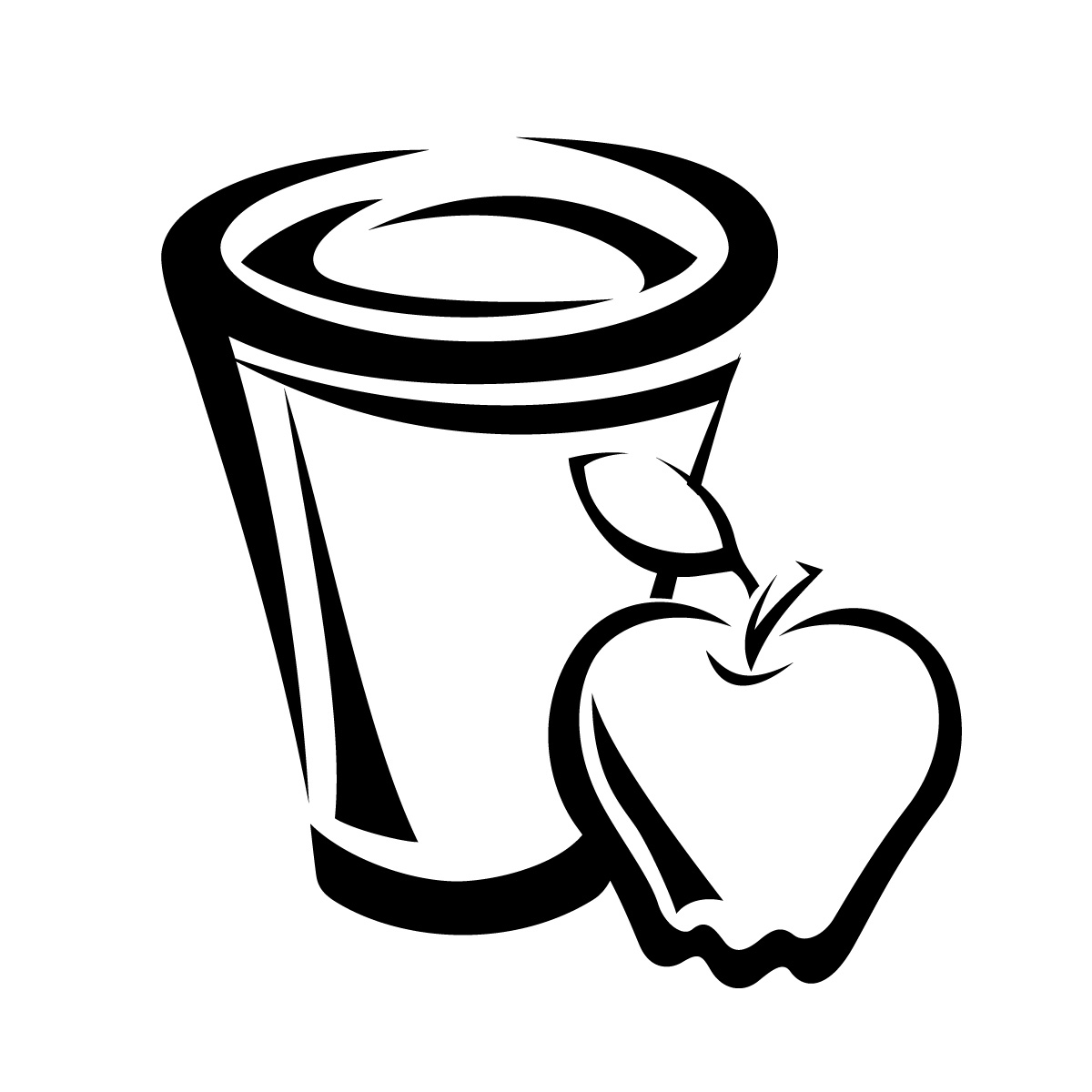 Juice Box Clipart Black And White