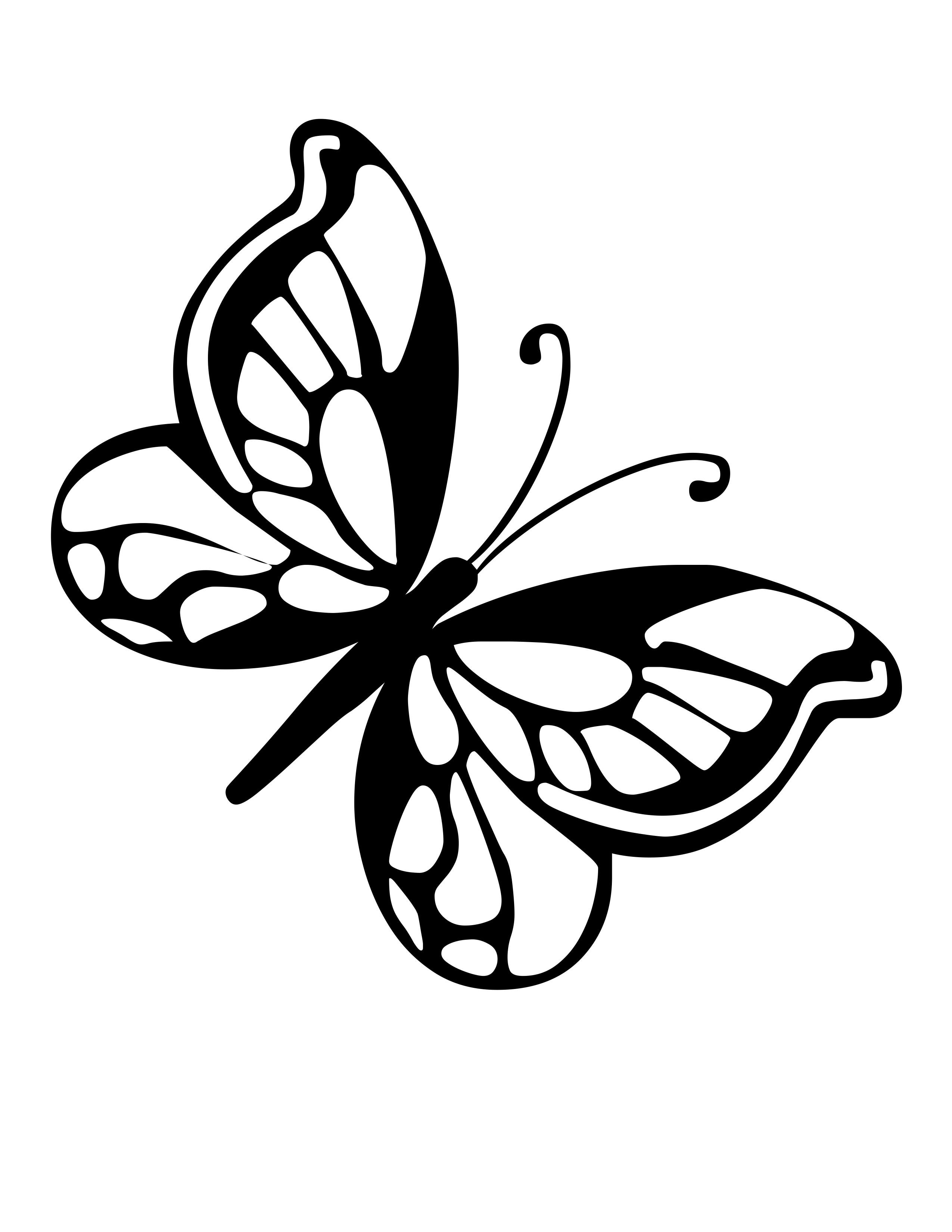 butterfly line art clipart best clipart best