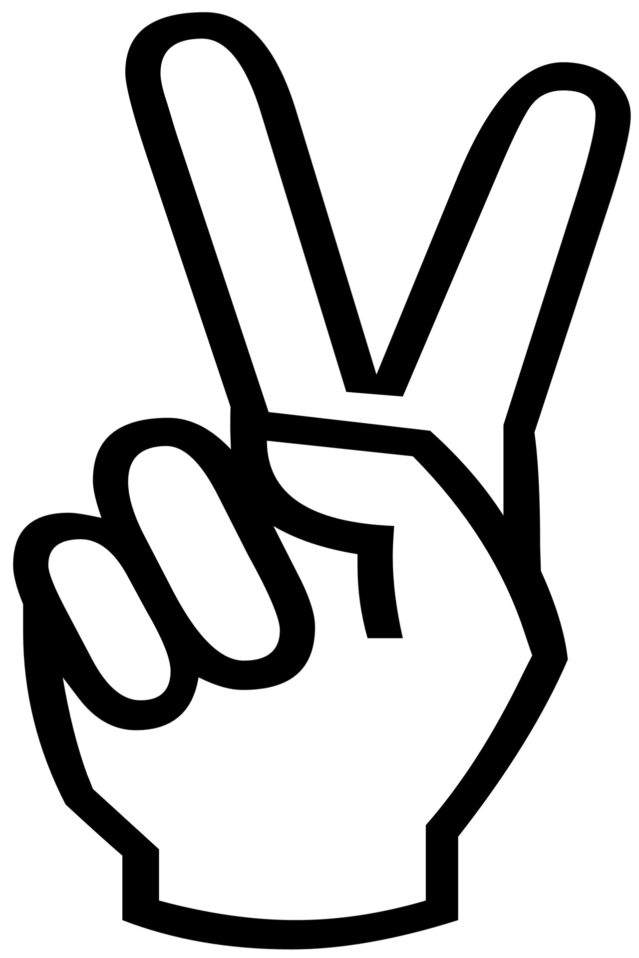 Peace Zeichen Finger