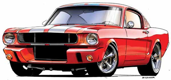 Muscle Car Drawing - ClipArt Best (600 x 280 Pixel)