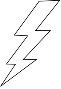 lightning bolt coloring page clipart best