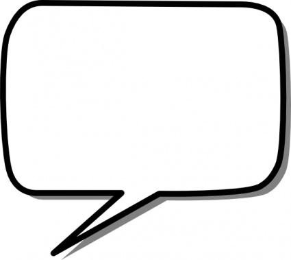 Speech Bubble Outline - ClipArt Best (425 x 379 Pixel)