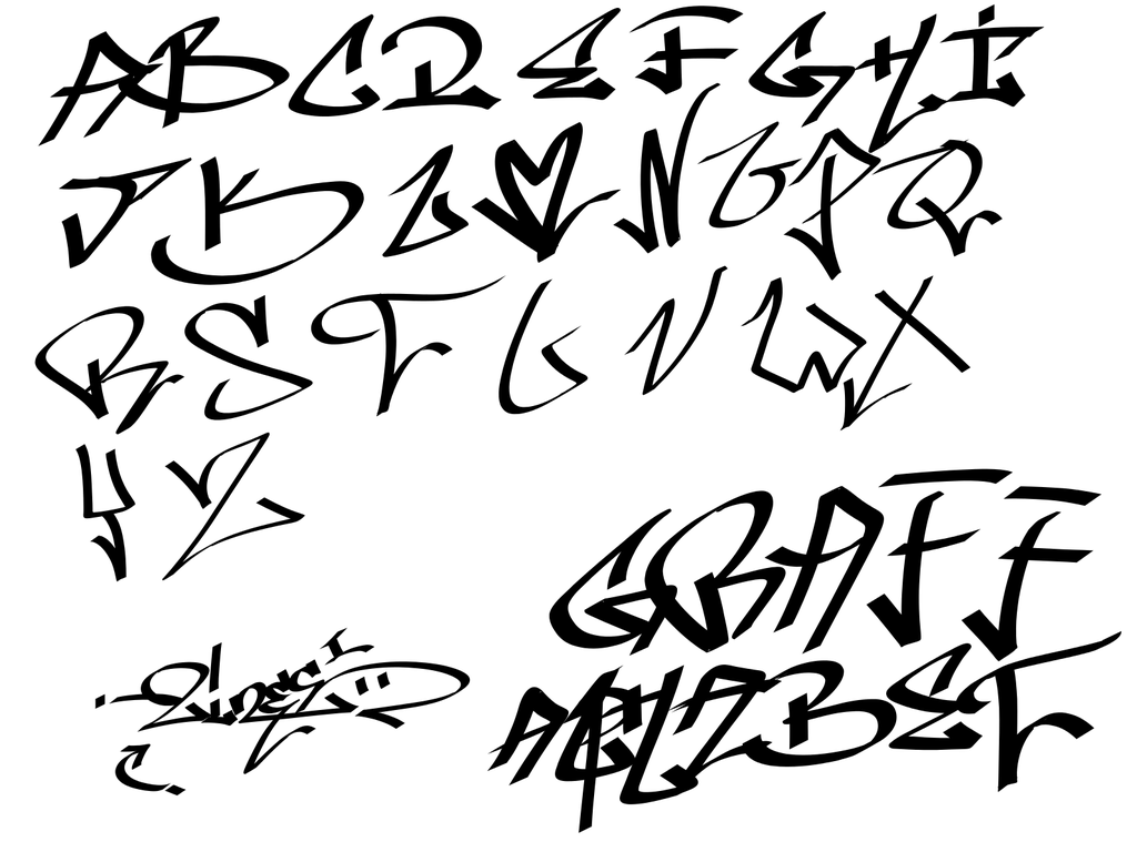 Alphabets Graffiti