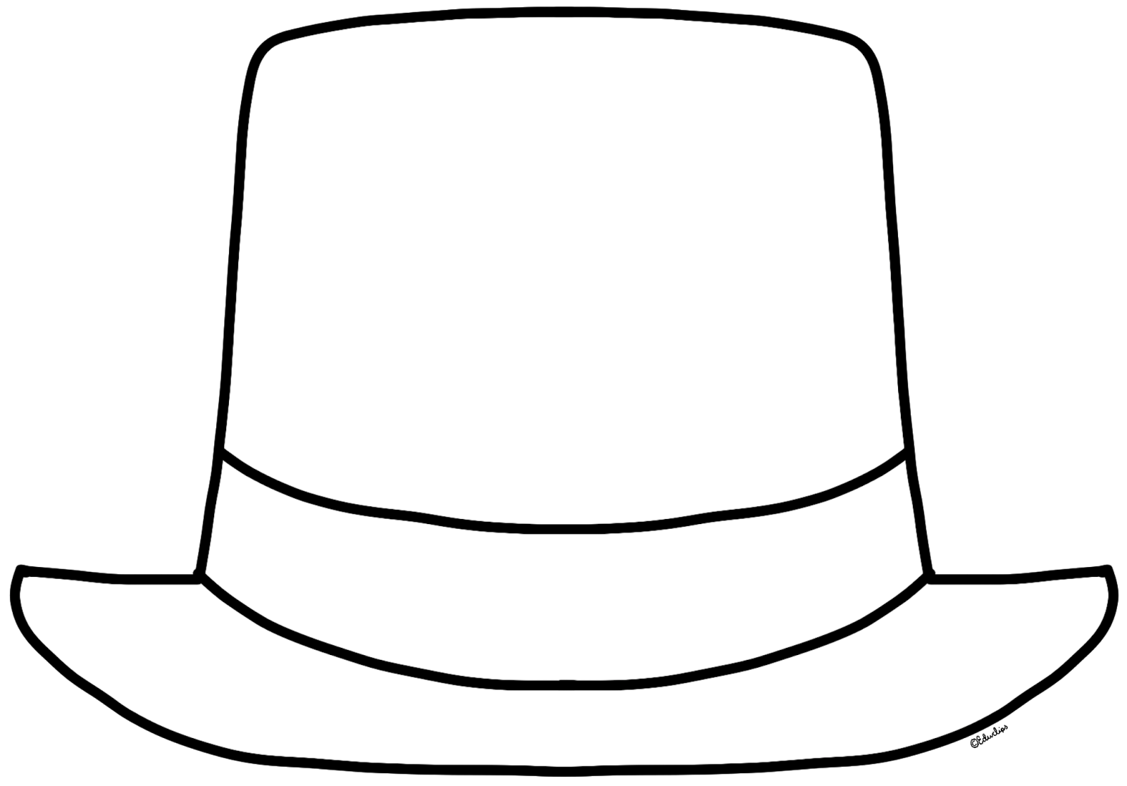 Black And White Clipart Hat