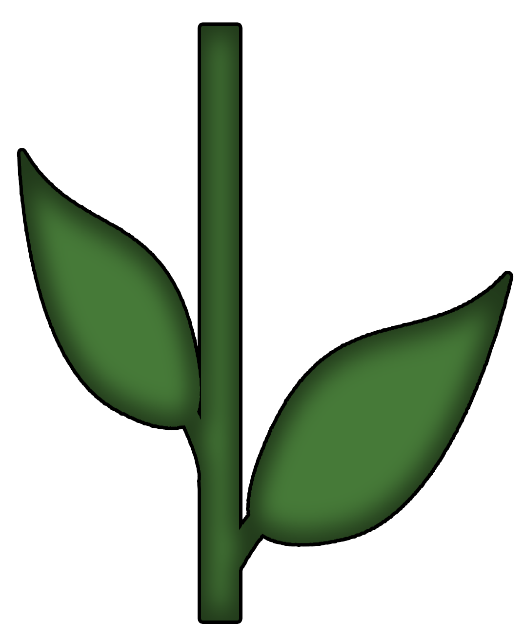 Flower With Stem Template