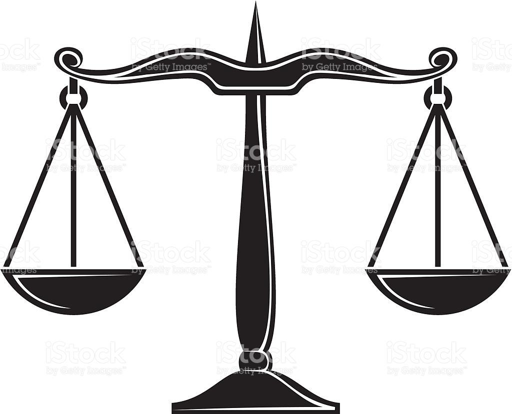 Balanza De Justicia Vector
