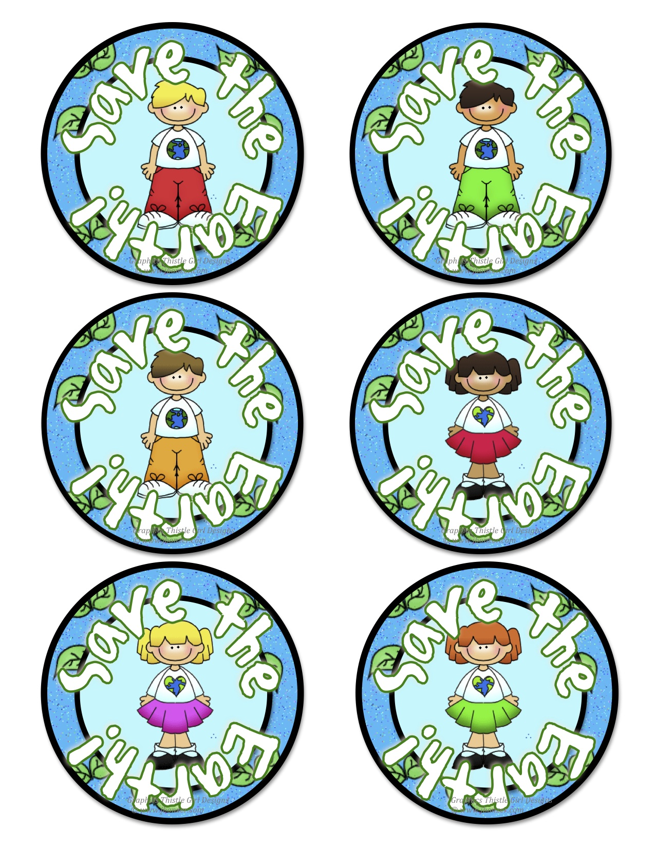 Badges On Earth Day